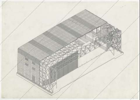 [Axonometric section]